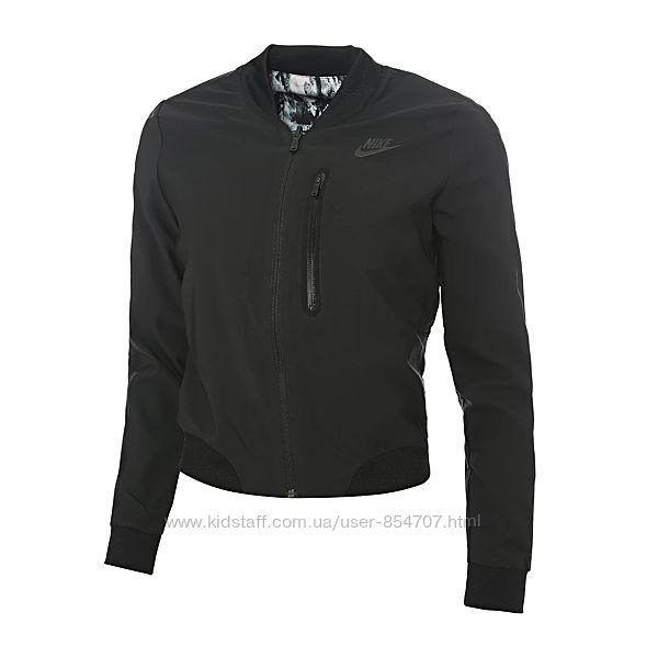 Куртка женская демисезонная бомбер черная двухсторонняя Nike Woven Bomber T