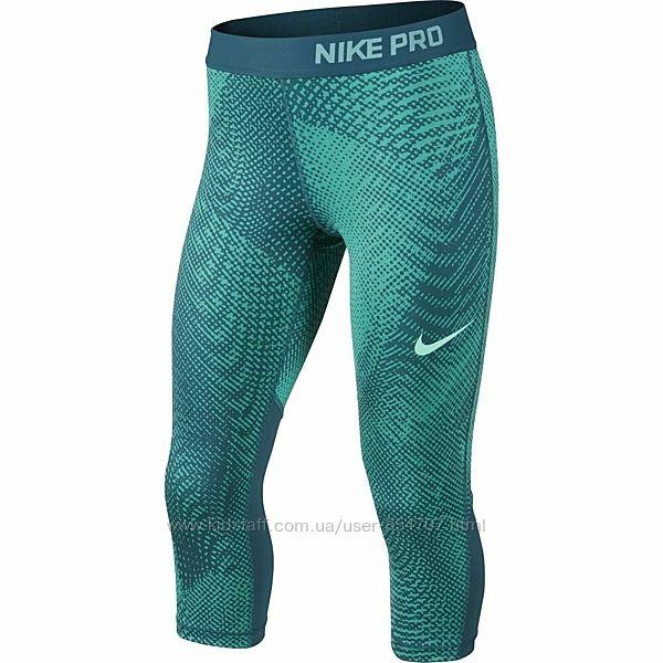 Капри детские леггинсы бриджи спортивные зеленые Nike Размер 146-158, 12-1