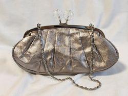 Клатч женский праздничный серебристый нарядный сумочка Accessorize