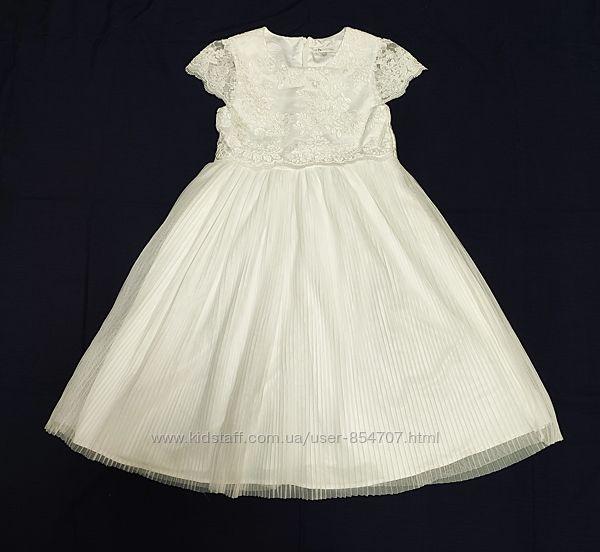 Платье детское белое нарядное Rocha John Rocha размер 140 см, 10 лет