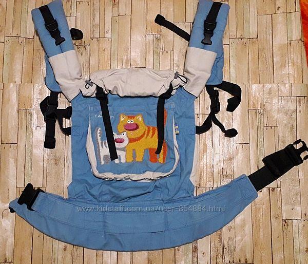 Эрго-рюкзак слинг переноска  I love mum в отличном состоянии