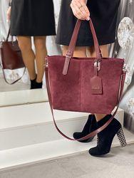 Женская сумка Натуральная замша и Экокожа Турция