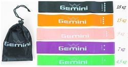 Набор резинок GEMINI Mini Bands 60см, 5 шт в чехле.