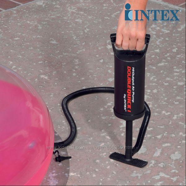 Насос ручной Intex- универсальный Intex 68612 идеально для фитбола