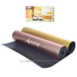 Йогамат, коврик для фитнеса ПВХ 176см61см4мм, 2 цвета металик