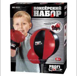Боксерский набор детский MS 0331 груша на стойке, перчатки.