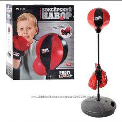 Боксерский набор детский MS 0332 груша на стойке и перчатки.