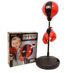 Боксерский набор детский MS 0333 груша на стойке и перчатки.