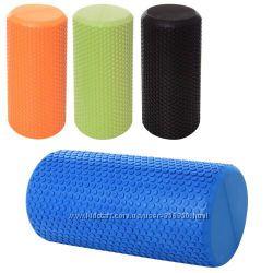 Фоам-роллер валик для спины, роллер массажный для йоги - 30см15см