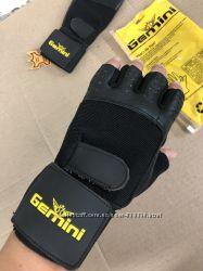 Мужские кожаные перчатки GEMINI для тренировок, спорта. Комфортная тренировка