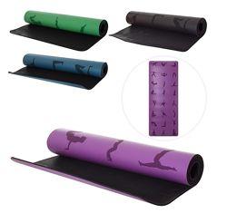 Профессиональный коврик для йоги натуральный каучук  полиуретан