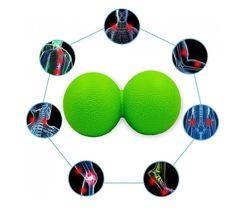 Массажный мячик двойной TPR 6,5 см 14 см. Мяч для массажа спины.