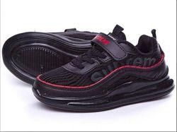 Распродажа детские кроссовки на липучке сеточка  экокожа