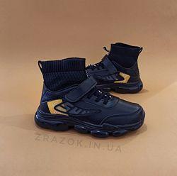 Кроссовки кожаные черные детские кроссовки носки nike air vapormax