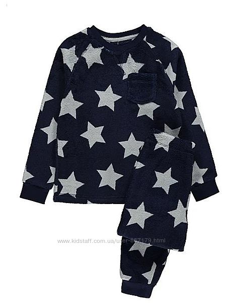 Флисовая пижама George 5-6  лет