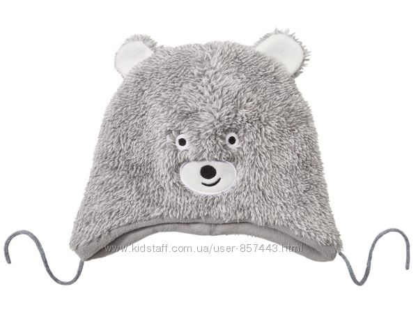 Демисезонная шапка мишка от lupilu р. 6274 см