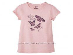 Нежная футболка для девочки р. 98104 см, lupilu, германия