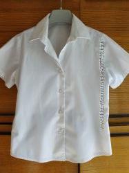 Белая школьная блузочка George на 6 - 7 лет