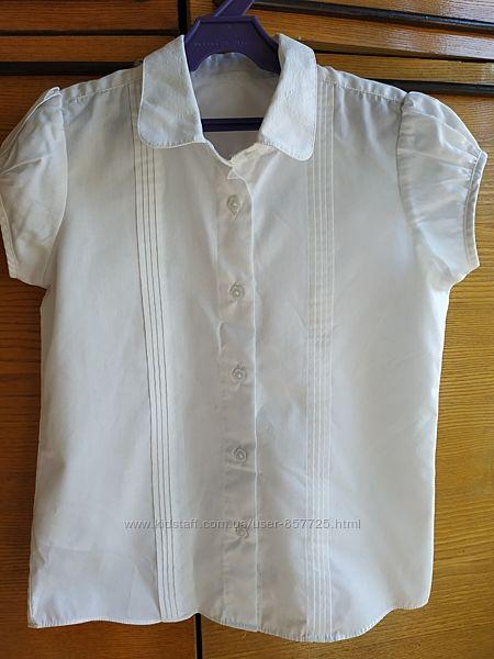 Стильная белая школьная блузка Matalan на 8-9 лет