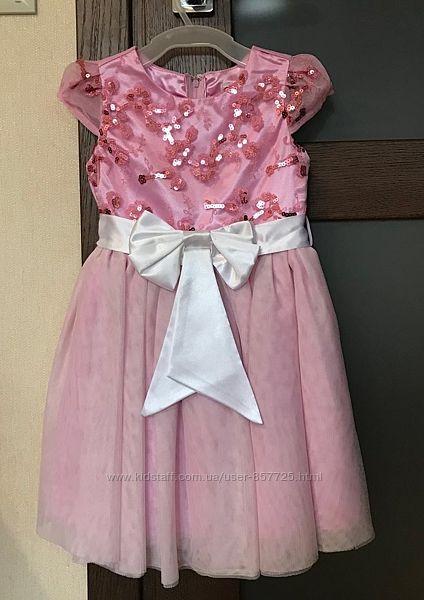 Нарядное праздничное Gloria Jeans платье 3-5 лет