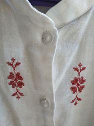 Нарядная белая блузка туника Simona с вышивкой на 8 - 9 лет лет