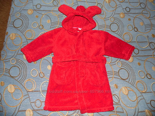 Мягенький халат с ушками Next 2-3 года