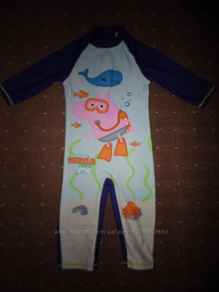 Плавательный солнцезащитный костюм -купальник Peppa Pig 5 лет