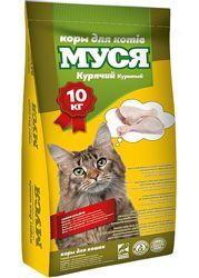 Корм сухой для кошек куриный Муся 10кг