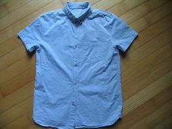 Рубашка zara летняя на мальчика 13 14 лет