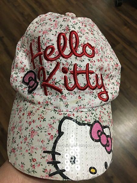 Кепка-бейсболка Hello Kitty, хлопок,