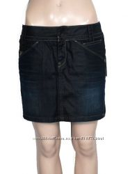 Новая юбка мини джинсовая с пропиткой W28 G-Star Raw Exper long mini skirt