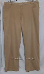 Новые брюки батал микровелюр бежевые Free Form 62-64р