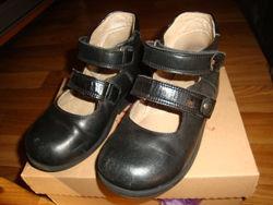 Школьные ортопедические  туфли из натуральной кожи