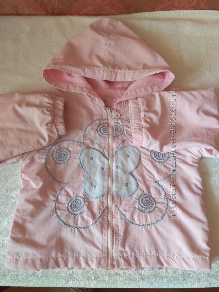 куртка ветровка розовая на 1-1, 5 года