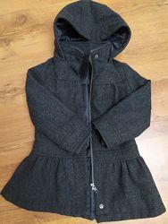 Пальто M&S демисезонное утепленное шерстяное