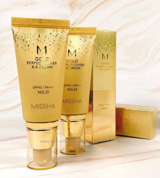 ВВ-крем с бархатным покрытием Missha M Gold Perfect Cover B. B Cream