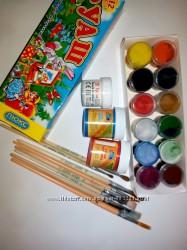 Краски, кисточки