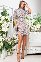 Стильное и романтичное платье-рубашка гаваи р. M42-44