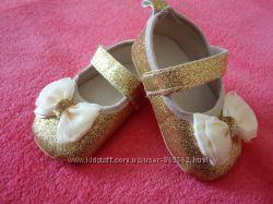 Пинетки-туфельки с бантиком, новые