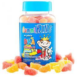 Омега-3, ДГК GummiKing Gummi King жевательные конфеты для детей, 60 конфет