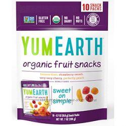 YumEarth, Фруктовые закуски желейки конфеты сладости
