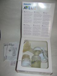 Молокоотсос механический AVENT, бутылочка, поильник в подарок