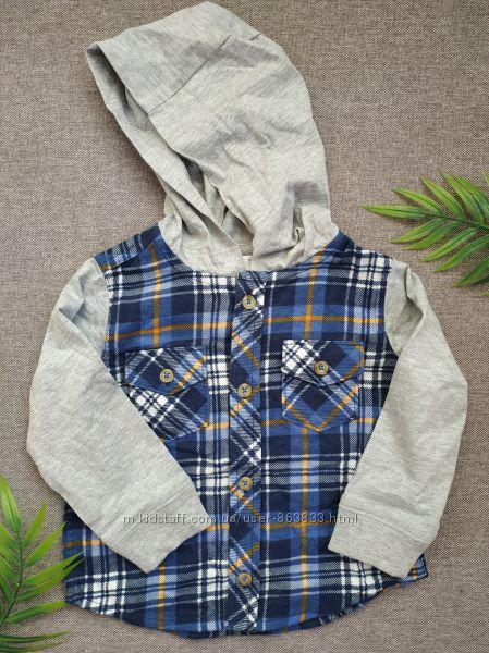 Рубашка для мальчика 9-12 мес рубашка в клетку