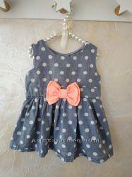Летнее платье 0-3 мес платье для девочки нарядное платье