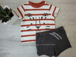 Летний комплект шорты и футболка F&F 3-6 мес