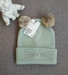Шапка для девочки H&M шапочка с бубонами 1. 5-4 года