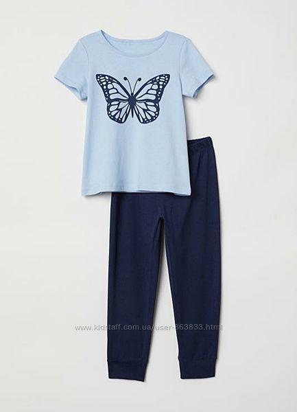 Пижама для девочки H&M 1. 5-2 года штаны футболка H&M