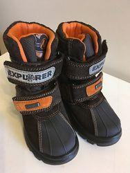Новые зимние ботинки Naturino rainstep 15 см на овчине непромокаемые