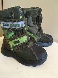 Новые зимние ботинки на овчине Naturino Rainstep 15см непромокаемые