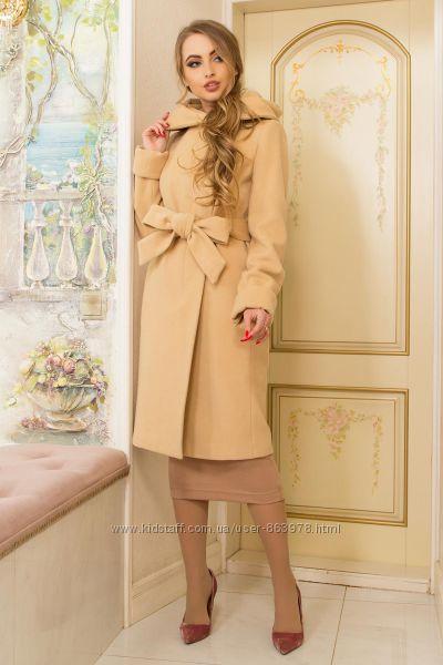 Великолепное классическое кашемировое пальто А4, р. 44-58